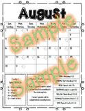 Behavior Calendar 2018-2019 - Kindergarten