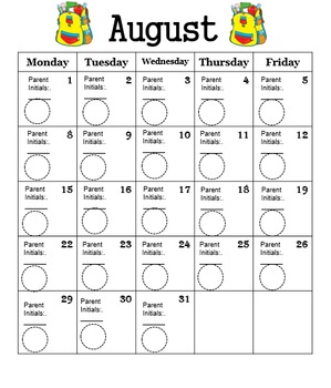 Behavior Calendar 2016-2017