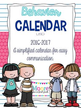 Behavior Calendar 2016-2017