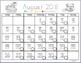 Behavior Calendar 2017 - 2018 (COLOR IN)