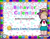 Behavior Calendar - 2018 - 2019
