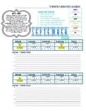 Christina School District Calendar 2018-2019 w/ Student Behavior log