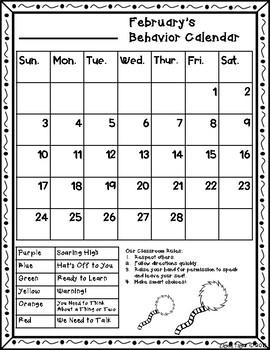 Behavior Calendar 2018-2019! Dr. Seuss Inspired - 2nd Style!