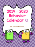 Behavior Calendar 2018-2019! Dr. Seuss Inspired