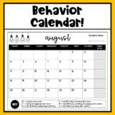Behavior Calendar 2019-2020