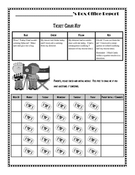 Behavior Calendar