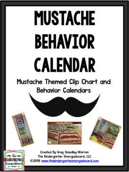 Behavior Calendar And Clip Chart:  I Mustache You About Yo
