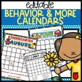 Behavior Calendars 2019 - 2020 Editable