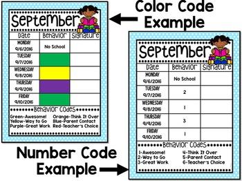 Behavior Calendar ~ Editable!