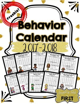 Behavior Calendar Freebie