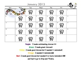 Behavior Calendar- November through February 2012