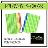 Behavior Calendar Stickers