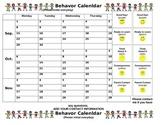 Behavior Calendar for 2014 2015 School Year