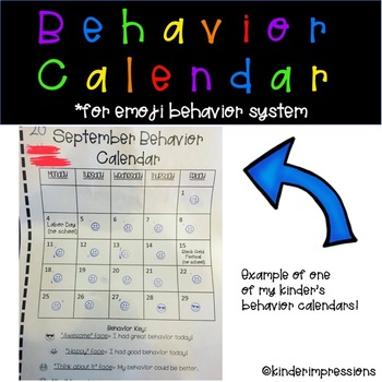 Behavior Calendar for Emoji Behavior System
