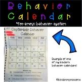 Behavior Calendar for Emoji Behavior System