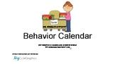Behavior Calendar for PBIS