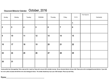 Behavior Calendars and Communication Calendars
