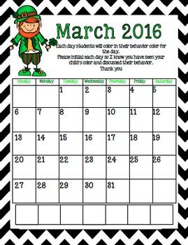 Chevron Behavior Calendars