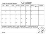 Behavior Calendars 2014-2015