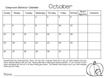 Behavior Calendars 2014-2015