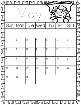 Behavior Calendars - Superhero theme