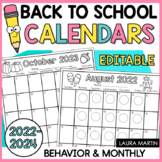 Editable Calendar 2017-2018-Behavior-Monthly