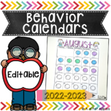 Behavior Calendars {Editable}