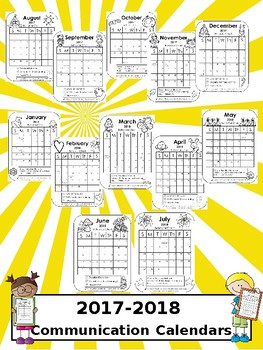 Communication Calendars 2017-2018