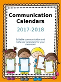 Communication Calendars 2017-2018