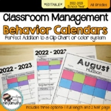 Editable Clip Chart Behavior Calendars - 2018-2019 School Year