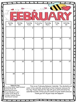 Behavior Calendars 2016