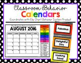 Behavior Calendars 2018-2019 (Clip Chart Version)