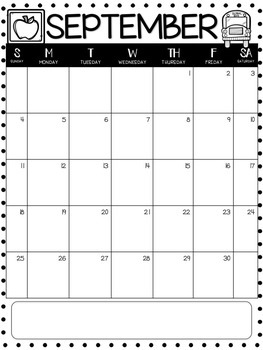Editable Monthly Calendars 2018-2019 in English and ...