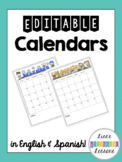 Behavior Calendars 2017-2018 (English & Spanish)