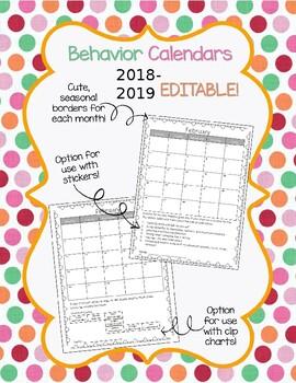 Behavior Calendars 2017-2017
