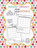 Behavior Calendars 2018-2019