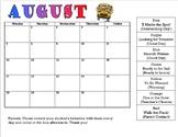 Behavior Calendars 2017-2018