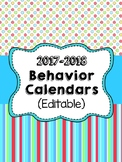 Monthly Behavior Calendars for 2017-2018