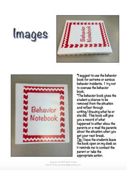 Individual Student Behavior Tracker (Editable) for Classroom Management