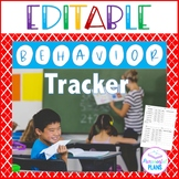 Individual Student Behavior Tracker (Editable) for Classro