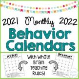 Behavior Calendar 2018-2019: Whole Brain Rules