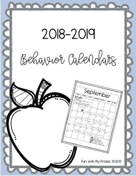 Behavior Calendars 2018-2019