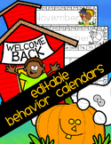 Behavior Calendars - Monthly themes