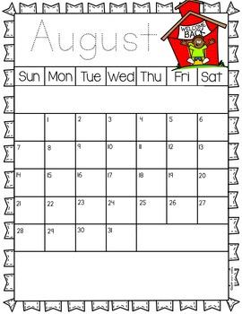Behavior Calendars - Monthly themes