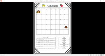 2017-18 Behavior Calendars