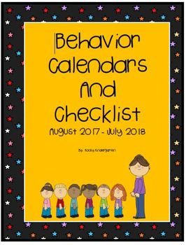Behavior Calendars August 2017- July 2018