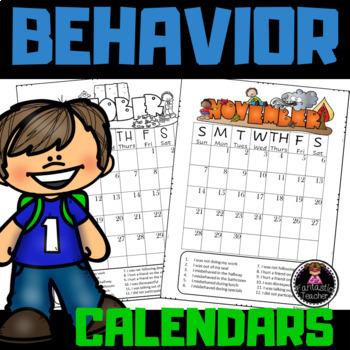 Behavior Calendars (EDITABLE) 2107-2018