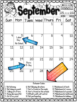 Behavior Calendars ~EDITABLE~ **UPDATED YEARLY** Includes 13 months
