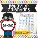 Behavior Calendars | Editable