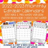 Behavior Calendars: Editable & Non-Editable (W/ Behavior Codes!) Included